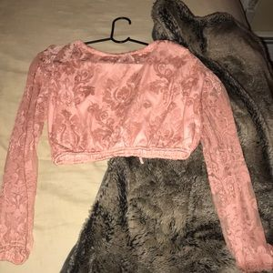 Gorgeous lace pink crop never worn